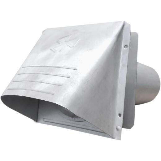 Builder's Best P-Tanium 4 In. Galvanized Wide Mouth Dryer Vent Hood