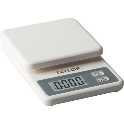 Taylor 11 Lb. White Compact Digital Food Scale