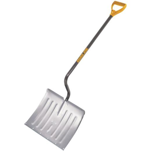 True Temper 18 In. Aluminum Snow Shovel with 37.5 In. Steel Handle
